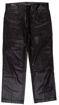Dolce & Gabbana Coated Cropped Jeans