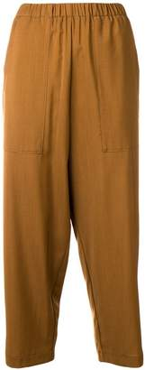 Barena elastic waistband cropped trousers
