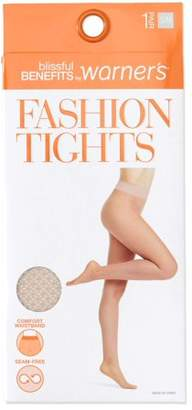Warner's Blissful Benefits by Seamless Sheer Patterned Fashion Tights, 1 Pair