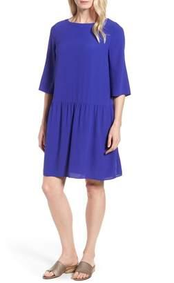 Eileen Fisher Drop Waist Silk Dress