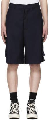 Sunnei Blue Cargo Shorts
