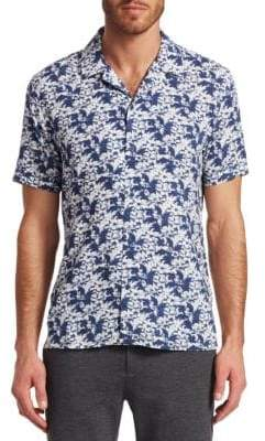 Saks Fifth Avenue MODERN Floral Camp Button-Down Shirt