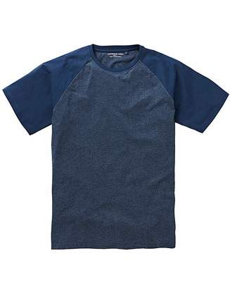Jacamo Denim/Navy Raglan T-Shirt Long