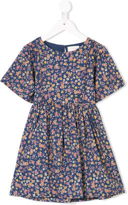 Simple shortsleeved floral dress