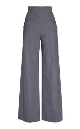 Pascal Millet High Waist Chambray Trouser