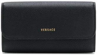 Versace logo continental wallet