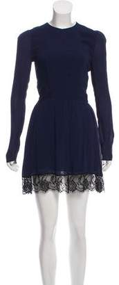 Reformation Lace Accented Mini Dress
