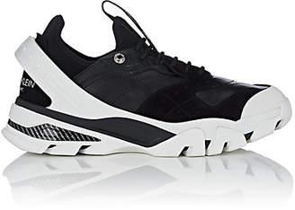 Calvin Klein Men's Rubber-Strap Leather & Suede Sneakers - Black