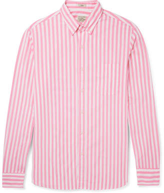 J.Crew Slim-Fit Button-Down Collar Striped Stretch-Cotton Shirt