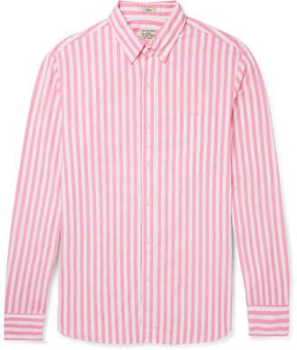 J.Crew Slim-Fit Button-Down Collar Striped Stretch-Cotton Shirt