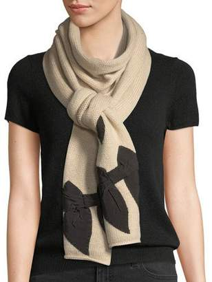 Kate Spade Knit Bow-Accent Scarf