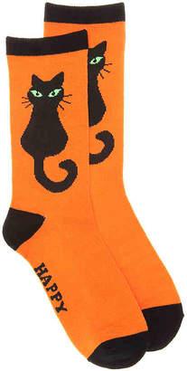K. Bell Black Cat Crew Socks - Women's