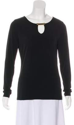 Michael Kors Long Sleeve Embellished Top