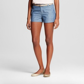 "Merona Women's 3"" Chambray Chino Short $19.99 thestylecure.com"