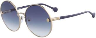 Salvatore Ferragamo Fiore Gradient Round Sunglasses
