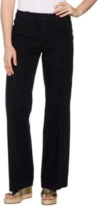 Isaac Mizrahi Live! Regular 24/7 Denim Fly Front Wide Leg Jeans