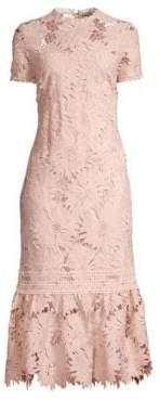Shoshanna Women's Talisa Floral Lace Dress - Blush - Size 0