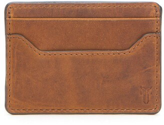 Frye Logan Leather Money Clip Card Case