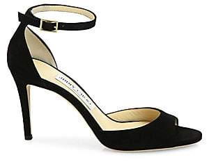 56ae60f6ebdb Jimmy Choo Women s Annie Suede d Orsay Ankle-Strap Sandals