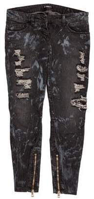 Balmain Low-Rise Embellished Jeans