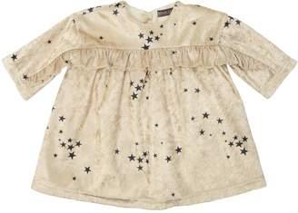 Stars Printed Velvet Dress