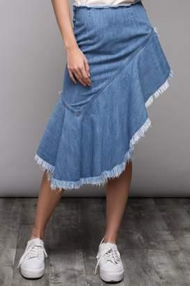 Do & Be Aysmetrical Denim Skirt