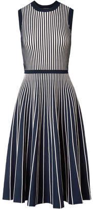 Jason Wu Two-tone Stretch-knit Dress - Navy
