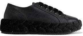 Marco De Vincenzo Glittered Braided Leather Platform Sneakers