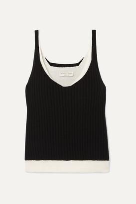 Bottega Veneta Layered Cashmere-blend Top - Black