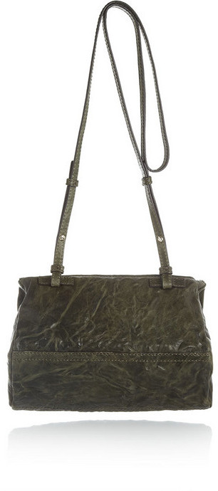 Givenchy Mini Pandora bag in washed green leather