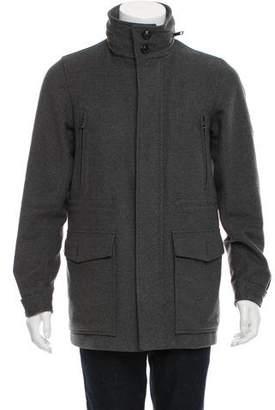 Burberry Nova Check-Lined Virgin Wool Jacket