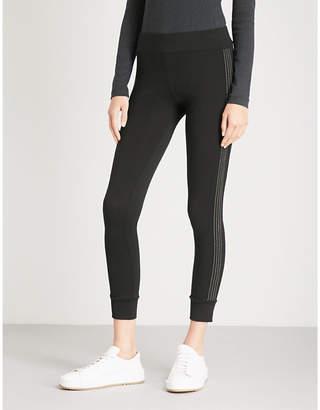 Brunello Cucinelli Bead-embellished mid-rise stretch-wool leggings