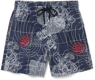 Moorea Mid-Length Printed Swim Shorts $250 thestylecure.com