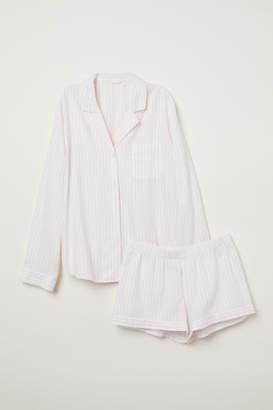 H&M Pajama Shirt and Shorts - Pink