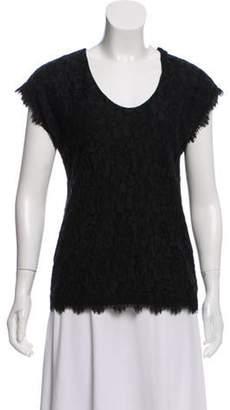 Diane von Furstenberg Cholula Lace Top Black Cholula Lace Top