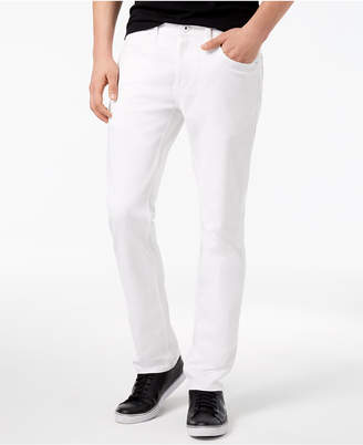 INC International Concepts I.n.c. Men's Teller Slim-Fit White Jeans, Created for Macy's