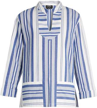 A.P.C. Tinos striped cotton top $145 thestylecure.com