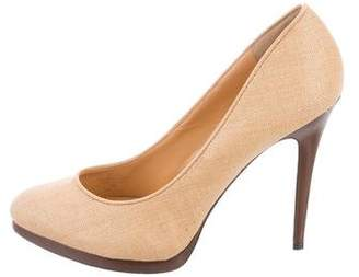 Lauren Ralph Lauren Woven Semi Pointed-Toe Pumps