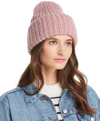 Aqua Metallic Rib-Knit Beanie - 100% Exclusive