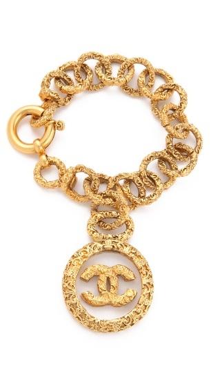 WGACA Vintage Chanel CC in Glass Bracelet