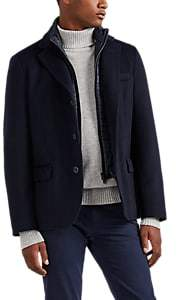 Herno Men's Cashmere Melton Coat - Navy