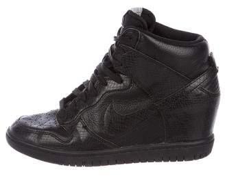 Nike Embossed Leather Wedge Sneakers