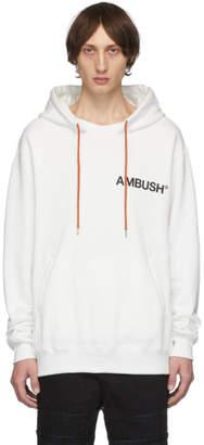 Ambush SSENSE Exclusive White Logo Hoodie