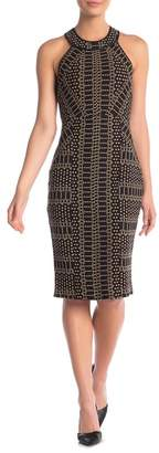 BCBGMAXAZRIA City Halter Print Sleeveless Dress