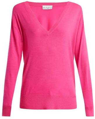 Raey V Neck Fine Knit Cashmere Sweater - Womens - Pink