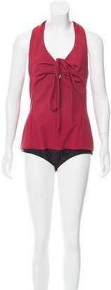 Rosie Assoulin Sleeveless Gathered Bodysuit