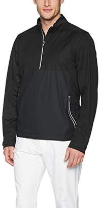 Cutter & Buck Men's Waterproof Packable Fairway Long Sleeve Half Zip Pullover