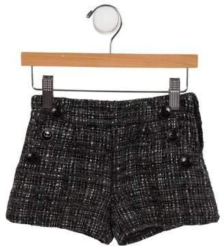 Lili Gaufrette Girls' Tweed Mini Shorts
