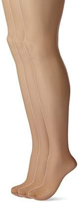 Hue Women's 3-Pack Age Defiance Hosiery, Natural, Size