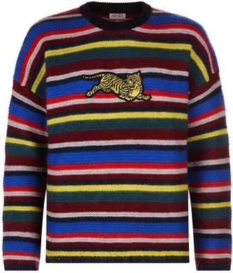 Kenzo Striped Tiger Detail Sweater